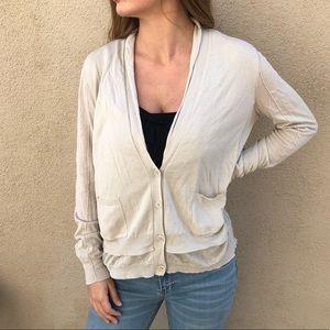 Inhabit 100% Cotton Beige Cardigan